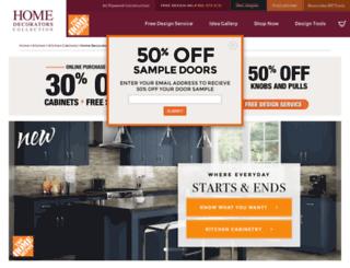 homedecoratorscabinetry.homedepot.com screenshot