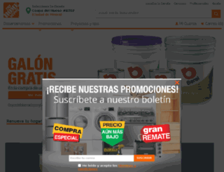 homedepot.com.mx screenshot