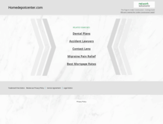 homedepotcenter.com screenshot