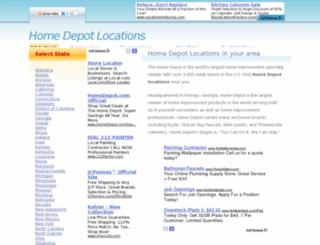 homedepotlocations.net screenshot