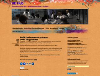 homeeducationhub.wordpress.com screenshot