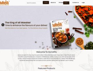 homefills.co.in screenshot