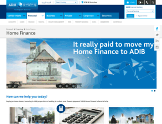 homefinance.adib.ae screenshot