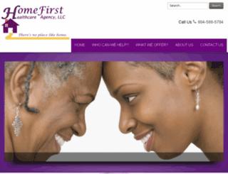 homefirsthealthcareagency.com screenshot