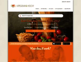homegrownandhealthy.mealplannerpro.com screenshot