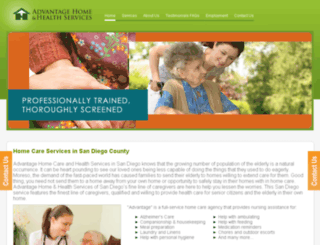 homehealthsandiego.com screenshot