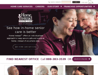 homeinsteadseniorcare.com screenshot