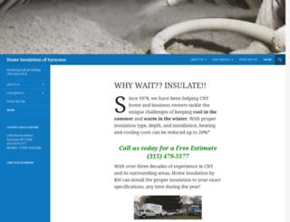 homeinsulationofsyracuse.com screenshot