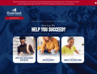 homelandcu.com screenshot