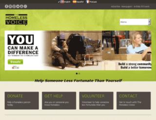 homelessnewswire.net screenshot