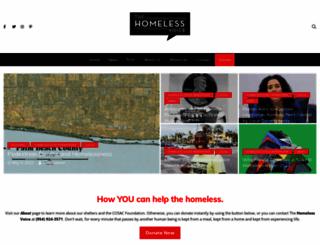 homelessvoice.org screenshot