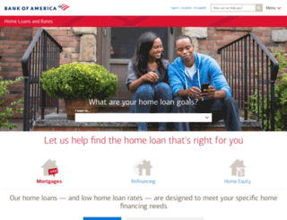 homeloans.countrywide.com screenshot