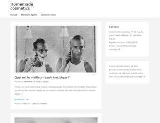 homemade-cosmetics.fr screenshot