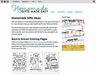 homemade-gifts-made-easy.com screenshot