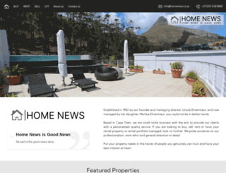 homenews.co.za screenshot