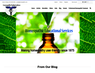 homeopathic.com screenshot