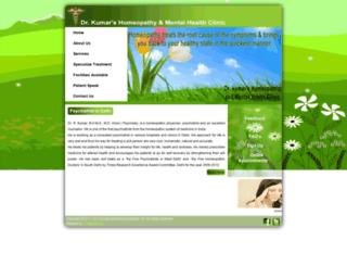 homeopathicclinicinsouthdelhi.in screenshot
