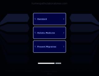 homeopathiclaboratories.com screenshot
