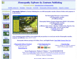 homeopathy-software.net screenshot
