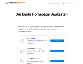 homepage-erstellen.de screenshot