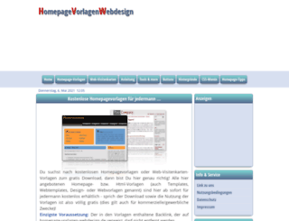 homepage-vorlagen-webdesign.de screenshot