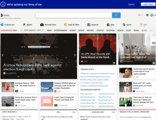 homepage.msn.ie screenshot