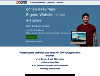 homepagebaukasten.de screenshot
