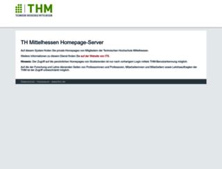 homepages.thm.de screenshot