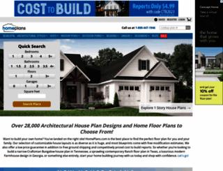 homeplans.com screenshot