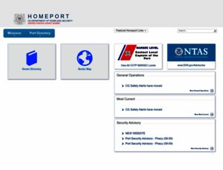 homeport.uscg.mil screenshot