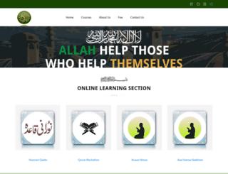 homequranteaching.org screenshot