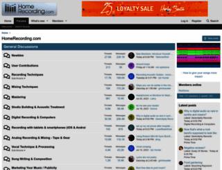 homerecording.com screenshot