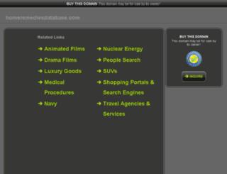 homeremediesdatabase.com screenshot