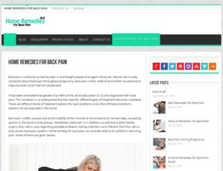 homeremediesforbackpain.org screenshot