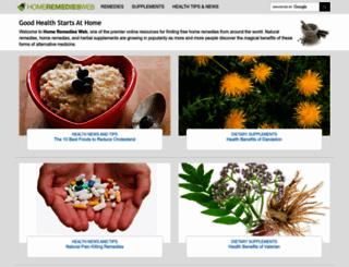 homeremediesweb.com screenshot