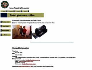 homeroasting.co.za screenshot