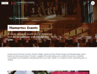 homertonconference.com screenshot