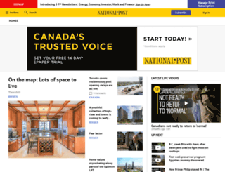homes.canada.com screenshot