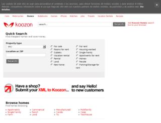 homes.koozon.co.uk screenshot