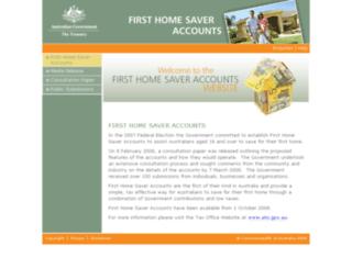 homesaver.treasury.gov.au screenshot