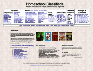 homeschoolclassifieds.com screenshot