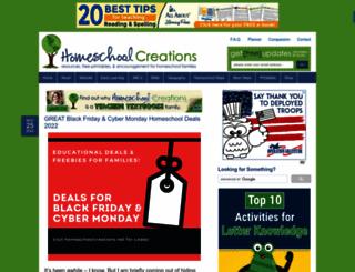 homeschoolcreations.net screenshot
