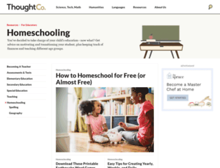 homeschooling.about.com screenshot