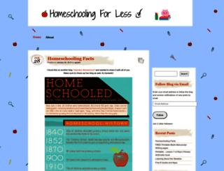 homeschoolingforless.wordpress.com screenshot