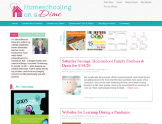 homeschoolingonadime.com screenshot