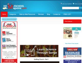 homeschoolmagazines.com screenshot