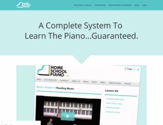 homeschoolpiano.jazzedge.com screenshot