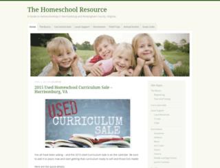 homeschoolresource.wordpress.com screenshot