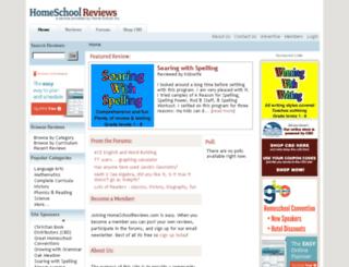 homeschoolreviews.com screenshot