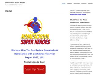 homeschoolsuperheroes.com screenshot